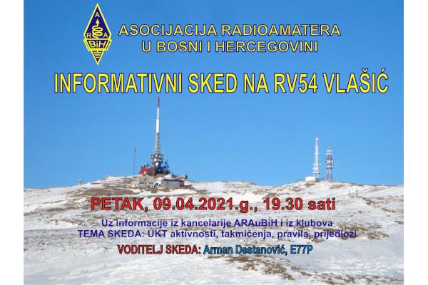 INFORMATIVNI SKED NA RV54 VLAŠIĆ, 09.04.2021.g.